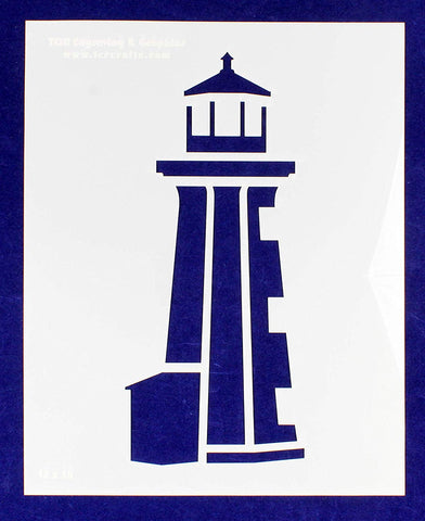 "Lighthouse Stencil Mylar 1 Piece of 14 Mil 12"" X 15"" - Painting/Crafts/Templates"