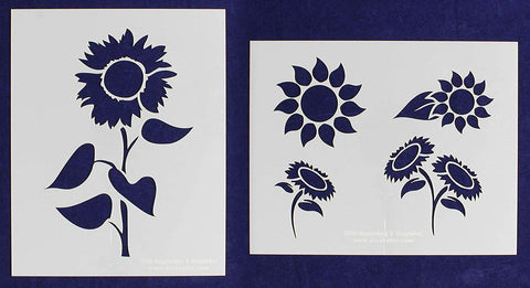 Sunflower Stencils Mylar 2 Pieces of 14 Mil
