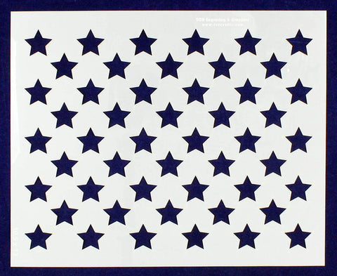 "50 Star Field Stencil 14 Mil -10.5"" x 13""- Painting /Crafts/ Templates"