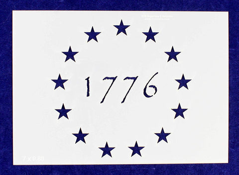 "13 Star 1776 Stencil 14 Mil-G-Spec -9.88""L - Painting /Crafts/ Templates"