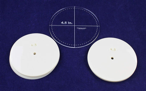 "4.5"" Circle 51 Piece Mylar Set - Quilting/Sewing Templates"