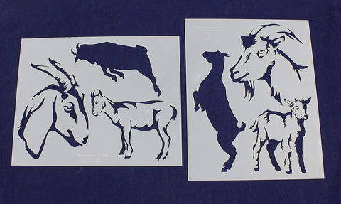 Goat Stencils - 2 Piece Set - 8 x 10