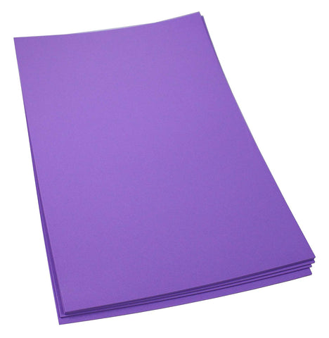 Craft Foam Sheets--12 x 18 Inches - Purple - 5 Sheets-2 MM Thick