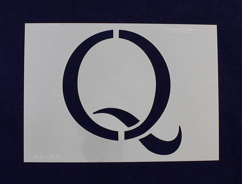 "Letter Q Stencil 14 Mil -10.5"" H x 14.8"" W - Painting/Crafts/Templates"
