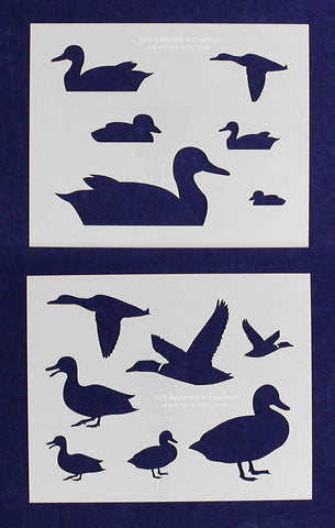 "Duck 2 Piece Stencil Set 14 Mil 8"" X 10"" Painting /Crafts/ Templates"