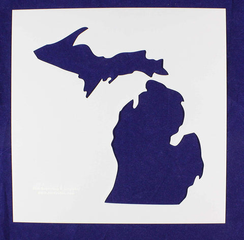 "State of Michigan Stencil-Mylar 14 Mil -12"" X 12"" - Painting /Crafts/ Templates"