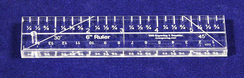 "6"" Ruler - 3/8"" thick. Quilting/Sewing Clear Acrylic - Quilting/sewing"