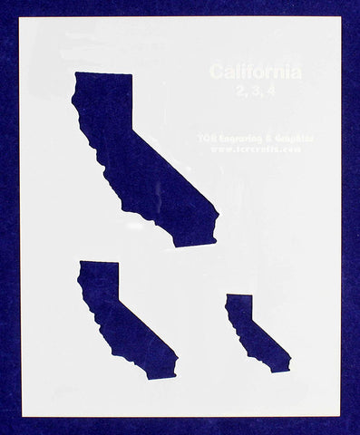 "State of California 8x10 Stencil (2"", 3"", 4"") 14 Mil Mylar - Painting/Crafts/ Templates"