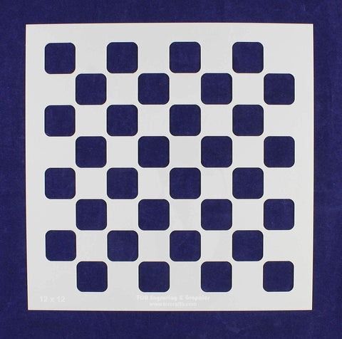 "Chess/Checkerboard Stencil 14 Mil -12"" X 12"" - Painting/Crafts/ Templates"