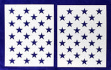 "50 Star Field Stencil 14 Mil 2 Pc-G-Spec -19.38""H x 27.36"" W - Painting /Crafts/ Templates"
