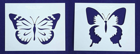 "Large Butterfly Stencils-Mylar 2 Pieces of 14 Mil 8"" X 10"" - Painting /Crafts/ Templates"