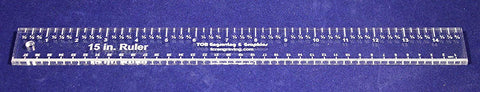 "15"" x 1.5"" Ruler - 1/4"" Clear Acrylic - Quilting/Sewing/Embroidery - Template"