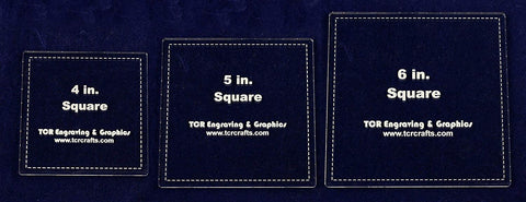 "Square Templates. 4"", 5"", 6"". - Clear 1/4""- With seam allowance"