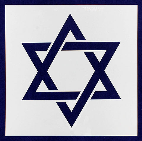 "Star of David Stencil 14 Mil -16""W X 16""H - Painting /Crafts/ Templates"