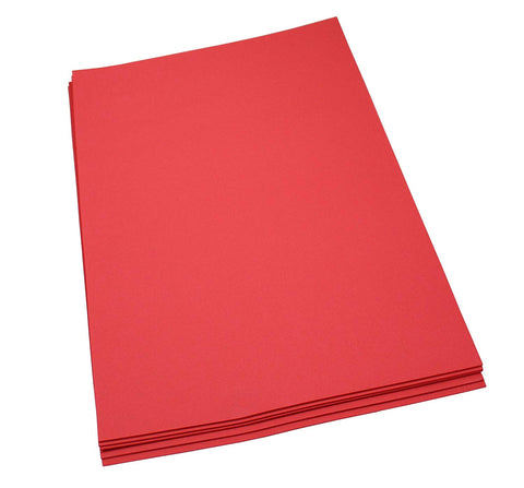 Craft Foam Sheets--12 x 18 Inches - Red - 5 Sheets-2 MM Thick