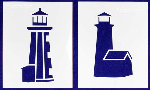 "Lighthouse Stencils Mylar 2 Piece Set of 14 Mil 12"" X 15"" - Painting/Crafts/Templates"