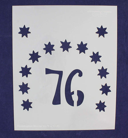 13 Star Field Stencil - Bennington- US/American Flag - 14.75 x 12.25 Inches