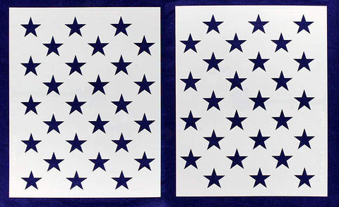 "50 Star Field Stencil G-Spec 27"" 2 Pieces- 14 Mil Painting /Crafts/ Templates"