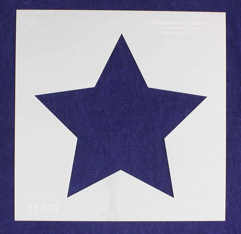"Single Star Stencil 14 Mil -11"" X 11"" Overall - Painting/Crafts/Templates"