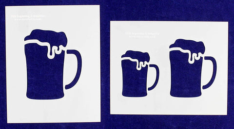 "Beer Large-2 Piece Stencil Set 14 Mil 8"" X 10"" Painting/Crafts/ Templates"