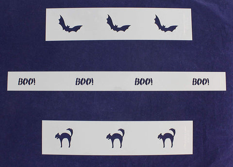 Halloween Border Stencils - 3 Piece Set