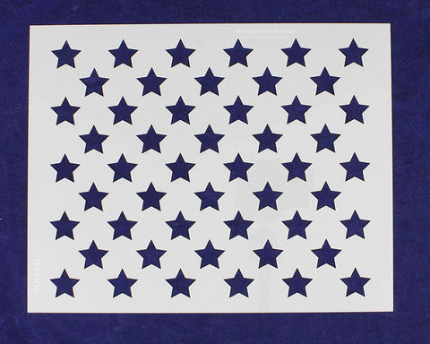 "50 Star Field Stencil 14 Mil -13.25""W X 10""H - Painting /Crafts/ Templates"