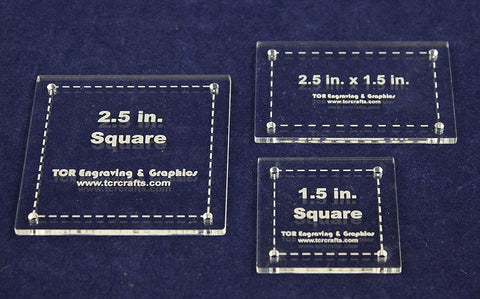 3 Piece Square/Rectangle Set B Quilting Templates