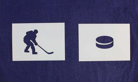 Hockey Stencils 2 Piece Set 5 x 7 Inches