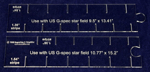"2 Piece Set- Flag Stripe Marker-1/8"" Acrylic-13.41 & 15.2"