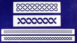 Celtic Knot Border 4 Piece Stencil Set-Border-14 Mil -Painting/Crafts/Templates