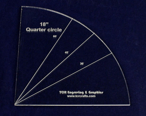 "Quarter Circle 18""- 1/4"" Clear Acrylic"