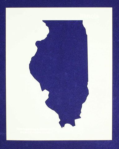 "State of Illinois Stencil 14 Mil 8"" X 10"" Painting /Crafts/ Templates"