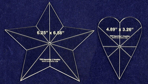 "2 Piece Star/Heart Set - No Seam - 1/8"" Thick -"