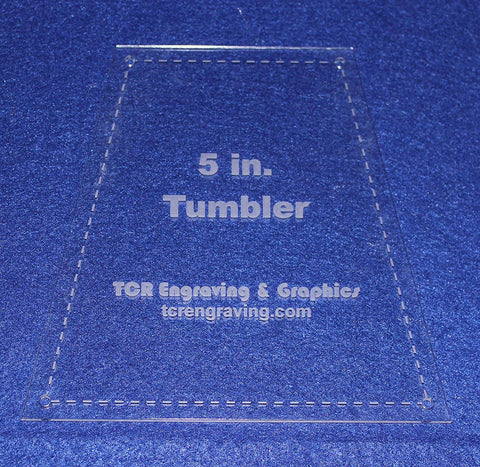 "5"" Tumbler Quilt Template - With Seam Allowance/Holes -Clear 1/8"" Acrylic"