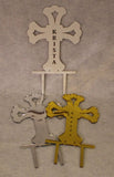 Cross Cake Topper - Assorted Colors - Free Engraving!