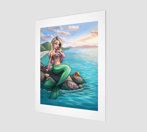 Mermaid - 11x14 Print