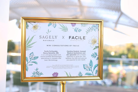 Facile skin consultations at Sagely Naturals launch event