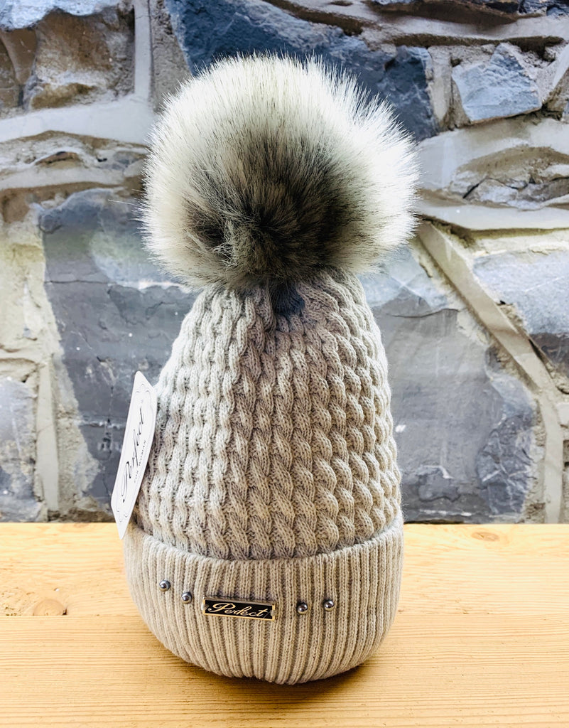 Perfect Grey Bobble Hat