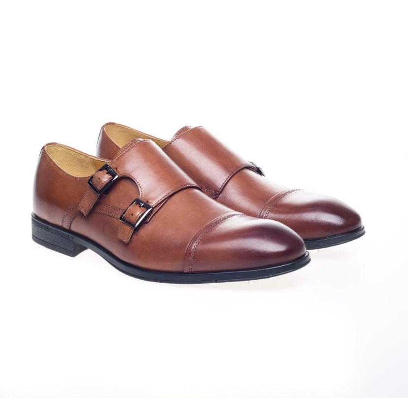 Steptronic Fresno Cognac Waxed Shoes