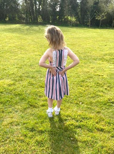 Cocote Red White Navy Stripe Dress