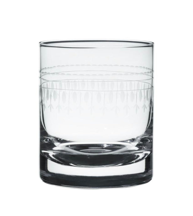The Vintage List Pair Crystal of Whiskey Glasses with Oval Design