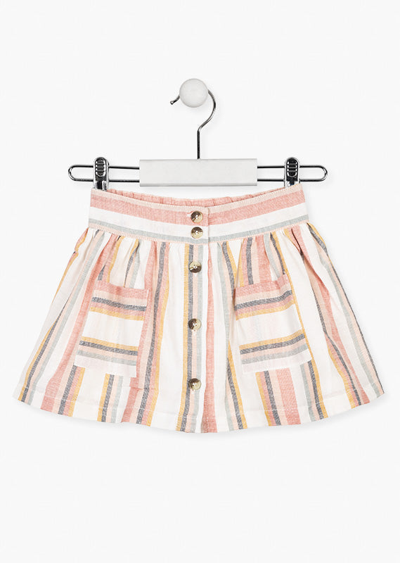 Losan Stripped Pink Skirt