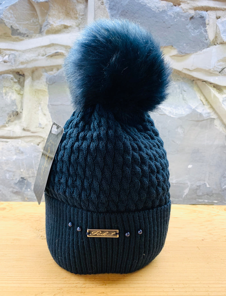 Perfect Navy Bobble Hat