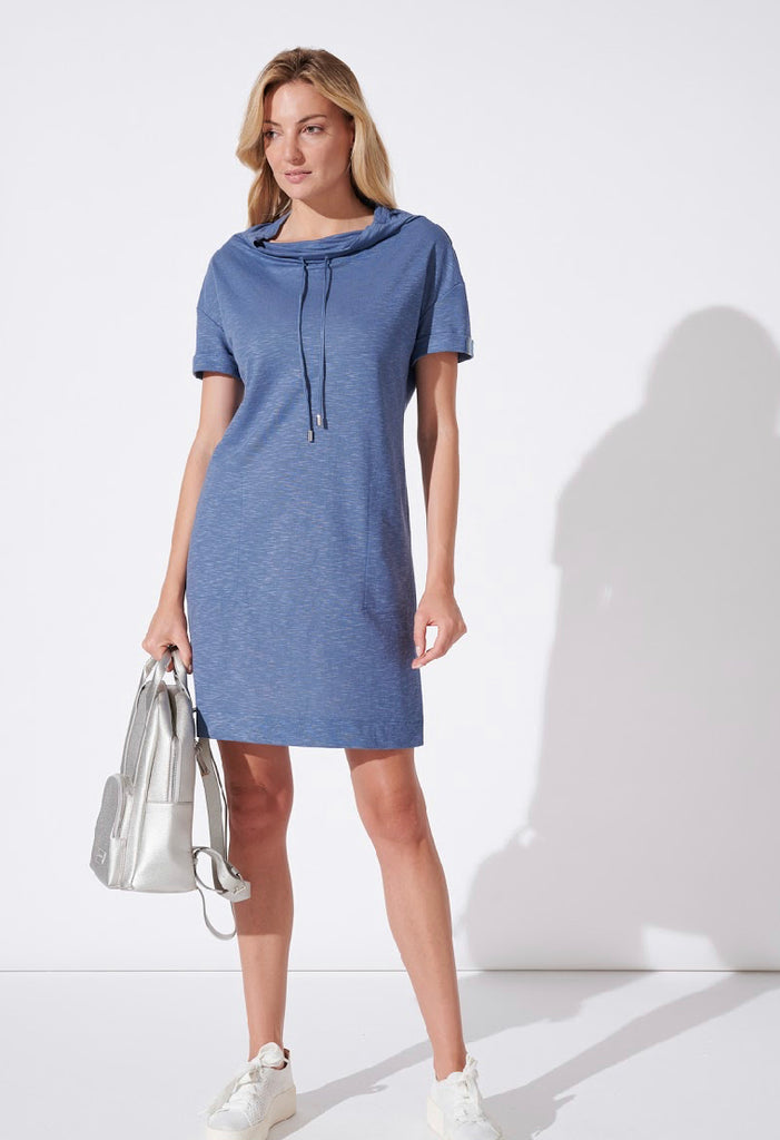 FR Blue Sweatshirt Dress