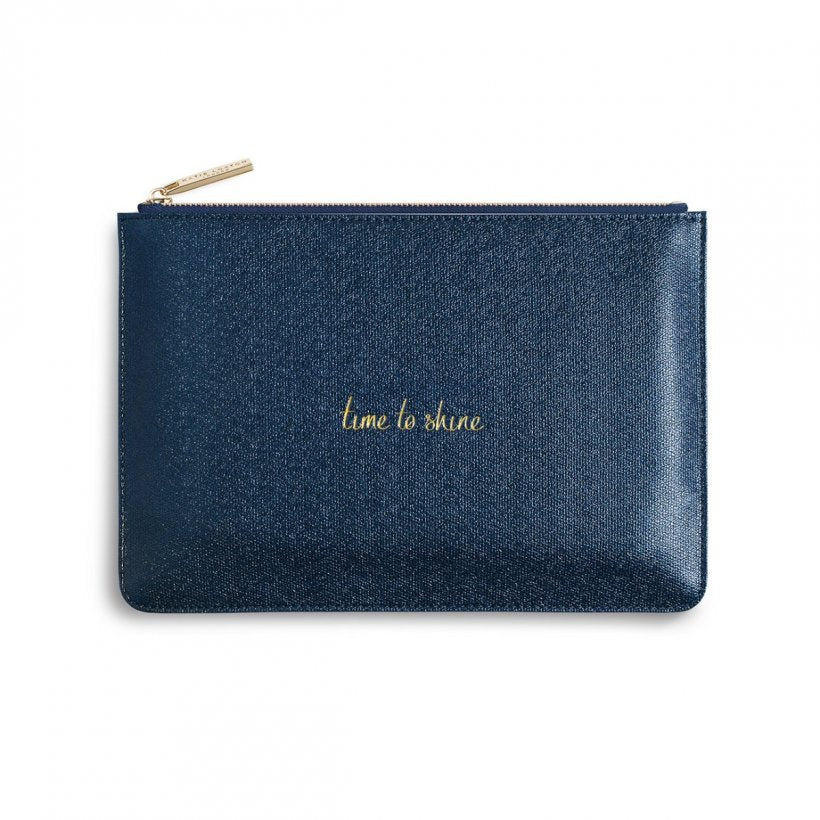 Katie Loxton Time to Shine Pouch Metallic Navy