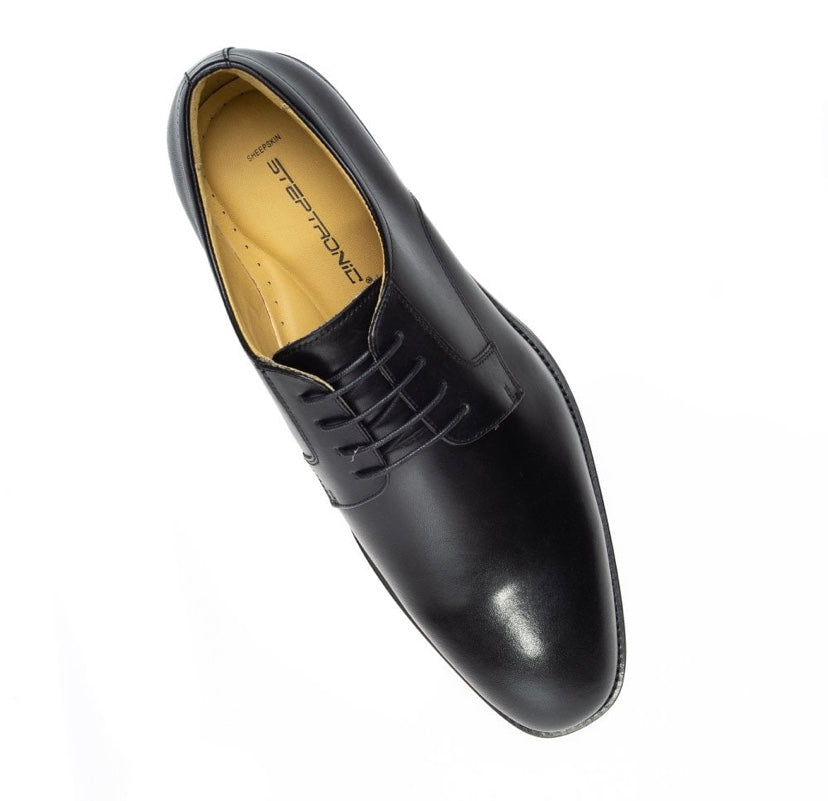 Steptronic Nigel Black Leather Shoes