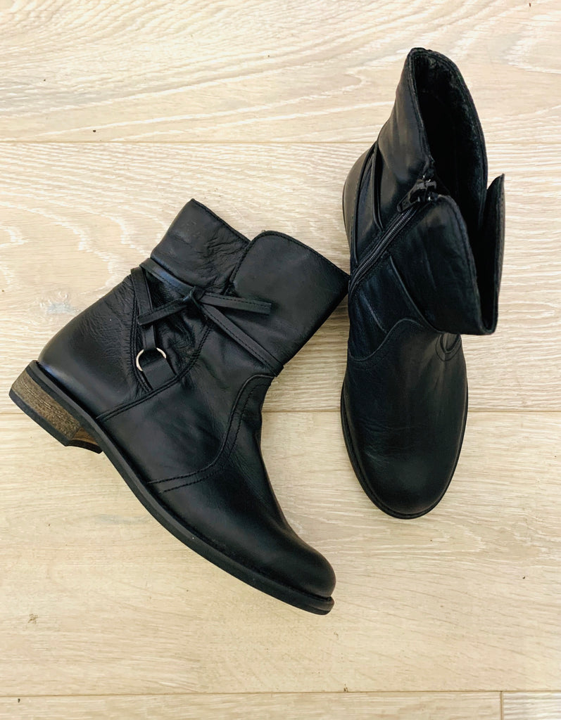 Riverwoods Black Ankle Boot