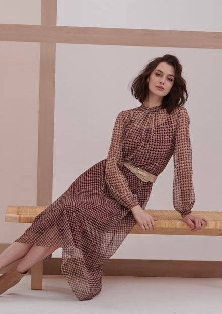 FE Maroon Print dress
