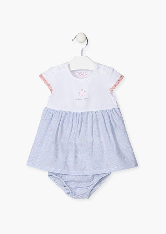Losan Baby Blue Dress With Pants