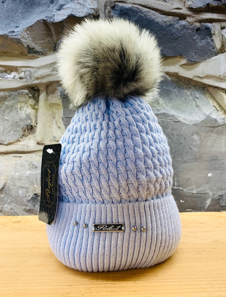 Perfect Baby Blue Bobble Hat